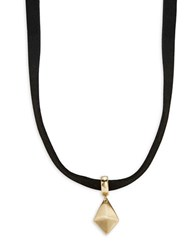 Design Lab Lord And Taylor Pyramid Pendant Choker Necklace Gold