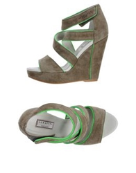 Serafini Etoile Sandals Military Green
