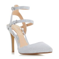 Head Over Heels Cadi Strappy Pointed Court Shoes Silver