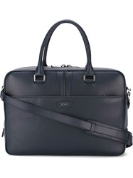 Tod's All Around Zip Briefcase Blue