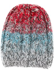 Missoni Cable Knit Beanie Red