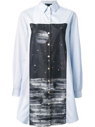 Marc By Marc Jacobs Oversized Printed Shirt Blue