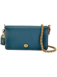 Coach Chain Strap Crossbody Bag Blue