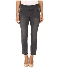 Jag Jeans Petite Amelia Pull On Ankle In Comfort Denim In Thunder Grey Destroy Thunder Grey Destroy Women's Blue