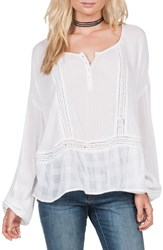 Volcom Women's 'Adalaide' Long Sleeve Peasant Top