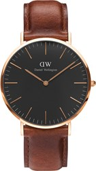 Daniel Wellington Classic Blk St Mawes 40 Rose Gold Watch Brown