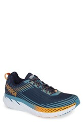 Hoka One One Clifton 5 Running Shoe Black Iris Storm Blue