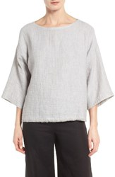 Eileen Fisher Women's Double Weave Organic Linen And Cotton Top