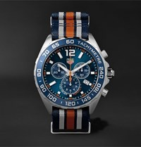 Tag Heuer Formula 1 Chronograph 43Mm Steel And Nato Webbing Watch Ref. No. Caz1014.Fc8196 Blue