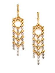 Giles And Brother Apache Drop Earrings Gold Silver