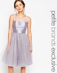 Chi Chi Petite Chi Chi London Petite Sparkle Tulle Prom Dress Lilac