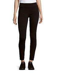 Kensie Slim Fit Textured Leggings Black