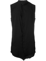 Thom Krom Raw Edge Sleeveless Shirt Black