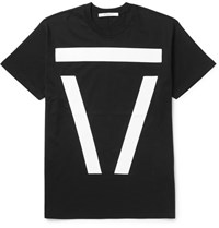 Givenchy Columbian Fit Appliqued Cotton Jersey T Shirt Black