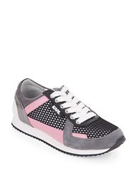 Karl Lagerfeld Grace Lace Up Sneakers Pink