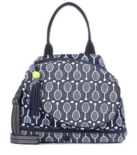 Tory Sport Racquet Tennis Printed Tote Blue