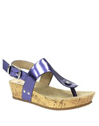 Ellen Tracy Inga Wedge Sandals Viola