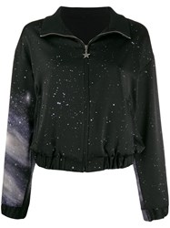 Pinko Galaxy Print Track Jacket Black