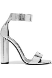 Tom Ford Metallic Ayers Sandals Silver