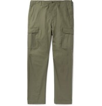 Orslow Cotton Ripstop Cargo Trousers Green