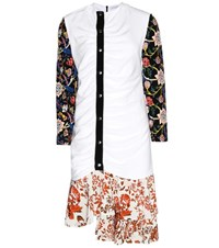 J.W.Anderson Printed Ruched Dress White
