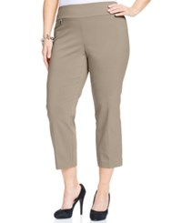 Alfani Plus Size Pull On Capri Pants Only At Macy's Summer Straw