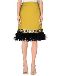 Holly Fulton Skirts Knee Length Skirts Women Yellow