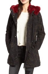 Blank Nyc Women's Blanknyc Attention Span Faux Fur Trim Jacket
