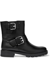 Tod's Buckled Leather Biker Boots Black