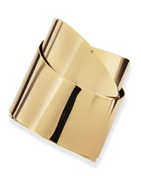 Golden Metal Geometric Ribbon Cuff Alexis Bittar