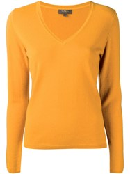 N.Peal Fine Knit Sweater Yellow Orange