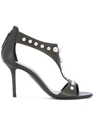 Premiata Stiletto Heel Studded Sandals Black
