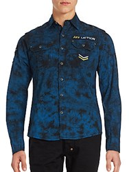 Affliction Revelation Logo Front Sportshirt Pacific Blue