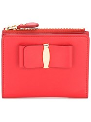 Salvatore Ferragamo Small Vara Snap Wallet Red