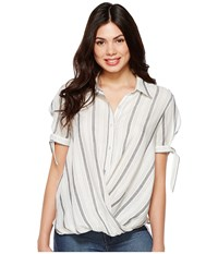 Blank Nyc Striped Detailed Shirt In Me And You Me And You Clothing White