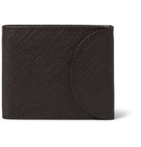 A.P.C. Cross Grain Leather Billfold Wallet Brown