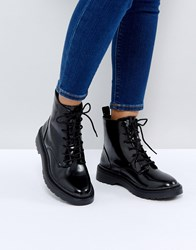 Pimkie Lace Up Classic Ankle Boots Black
