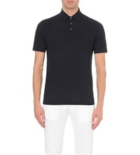 Slowear Cotton Jersey Polo Shirt Navy