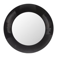 Kartell All Saints Round Mirror Matt Black