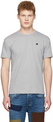 Comme Des Garcons Play Grey Small Heart T Shirt