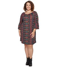 Roper Plus Size 0607 Printed Poly Spandex Jersey Black Women's Clothing
