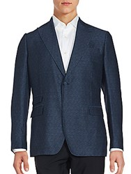 J. Lindeberg Cotton Blend Long Sleeve Jacket Dark Blue