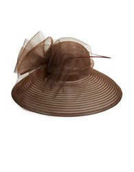 Giovannio Bow Accented Derby Hat Chocolate