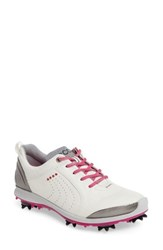 Ecco Women's Biom 2 Waterproof Golf Shoe White Candy Leather