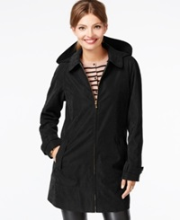 Jones New York Faux Suede Microfiber Coat Black