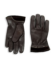 Ugg Capitan Leather Gloves Brown