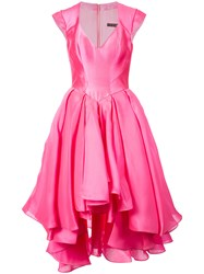 Rubin Singer Flared Sweetheart Gown Pink And Purple