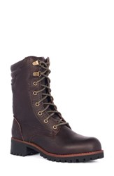 Klr Women's Taylor Lace Up Boot Dark Brown Leather