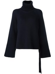 Joseph Turtleneck Jumper Blue