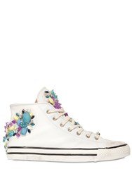 Black Dioniso Embellished Leather High Top Sneakers